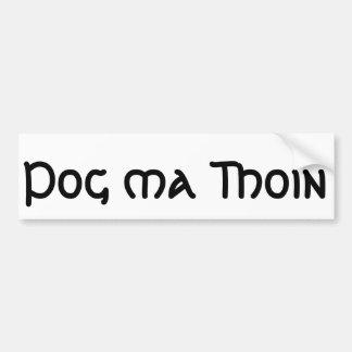 Pog MA Thoin (küssen Sie meine Iren) Autoaufkleber