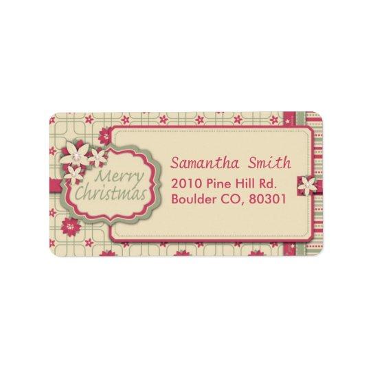 Poinsettia-Adressen-Etikett Adress Aufkleber