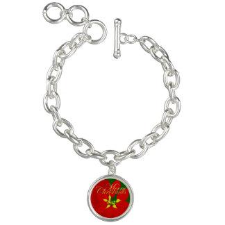 Poinsettia Charm Armband