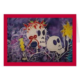 Poinsettia Dia de Los Muertos Christmas Karte