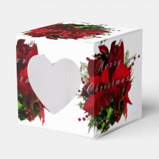 Poinsettia fröhlich geschenkschachtel