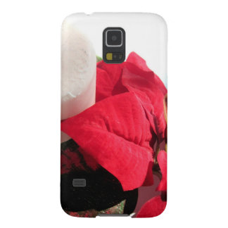 Poinsettia mit Kerze Galaxy S5 Cover