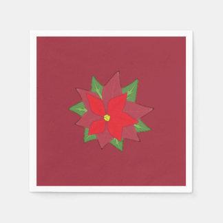 Poinsettia-Papierservietten-Weihnachten Papierserviette