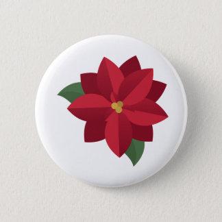 Poinsettia Runder Button 5,1 Cm