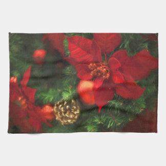 Poinsettia-Schönheits-Geschirrtuch Handtuch