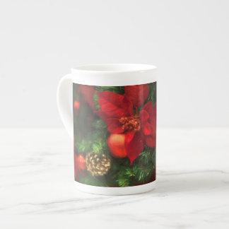 Poinsettia-Schönheits-Tasse Porzellantasse