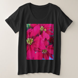 Poinsettia-Shirt der Frauen Große Größe T-Shirt