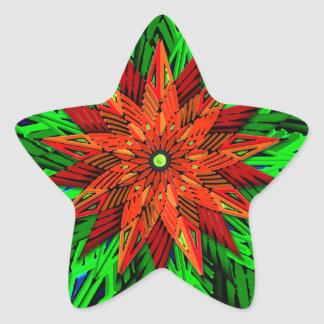 Poinsettia (Stern-Form-Aufkleber) Stern-Aufkleber