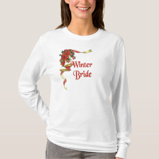 Poinsettia Wedding Bell T-Shirt