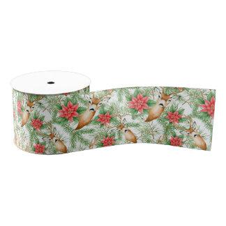 Poinsettia-Weihnachtsmuster Ripsband