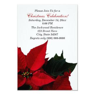 Poinsettia-WeihnachtsParty Einladungen