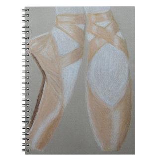 Pointe Ballett-Füße Spiral Notizblock