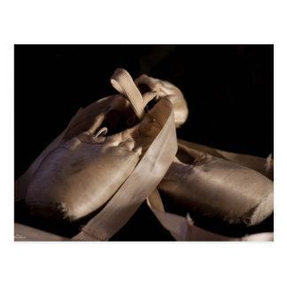 Pointe Ballett Schuh-Postkarte