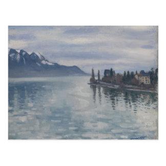 Pointe de Territet, Montreaux durch Albert Marquet Postkarte