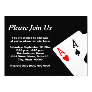 Poker 11,4 X 15,9 Cm Einladungskarte