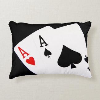 Poker-Akzent-Kissen Dekokissen