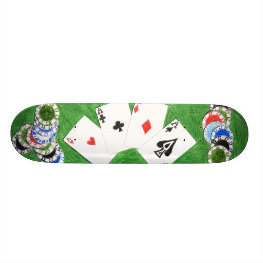Poker Board, by DJ Personalisierte Skateboarddecks