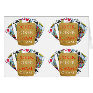 POKER Champion: ART101 deckte Muster mit Ziegeln Karte