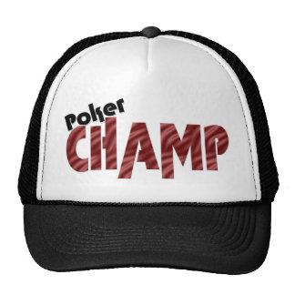 Poker-Champions-Meister-Kartenspieler-Hut Truckermütze