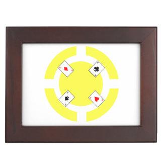 Poker-Chip - Gelb Erinnerungsdose