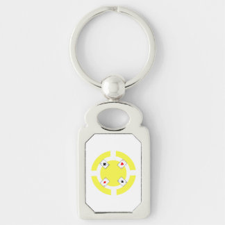 Poker-Chip - Gelb Schlüsselanhänger
