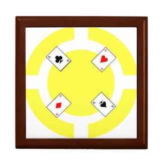 Poker-Chip - Gelb Schmuckschachtel