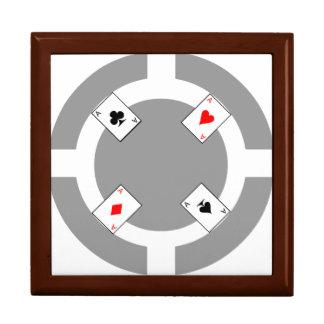 Poker-Chip - Grau Erinnerungskiste