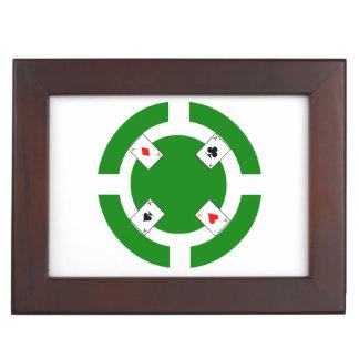 Poker-Chip - Grün Erinnerungsdose