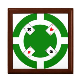Poker-Chip - Grün Erinnerungskiste