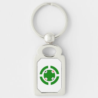 Poker-Chip - Grün Schlüsselanhänger