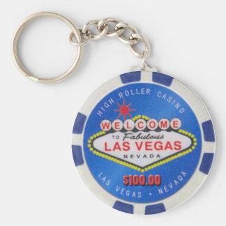 Poker-Chip Keychain Las Vegas hoher Rollen-$100,00 Schlüsselanhänger