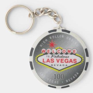 Poker-Chip Keychain Las Vegas hoher Rollen-$100 Schlüsselanhänger