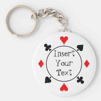 Poker-Chip Keychain Schlüsselanhänger