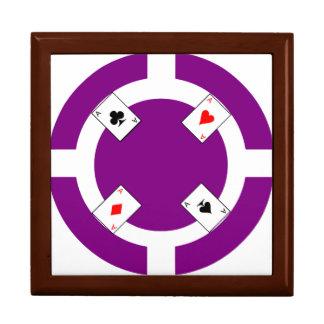 Poker-Chip - lila Geschenkbox