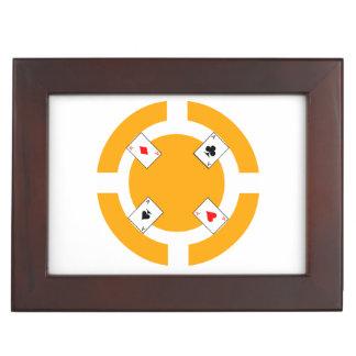 Poker-Chip - Orange Erinnerungsdose