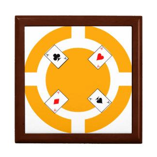 Poker-Chip - Orange Erinnerungskiste