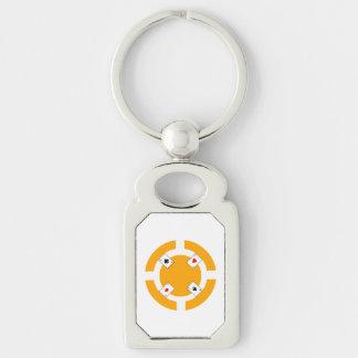 Poker-Chip - Orange Schlüsselanhänger