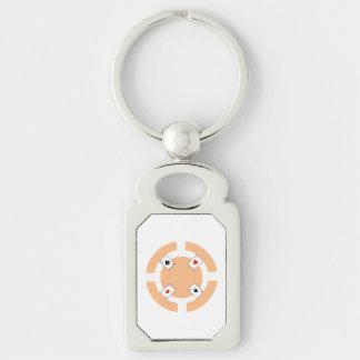 Poker-Chip - Pfirsich Schlüsselanhänger