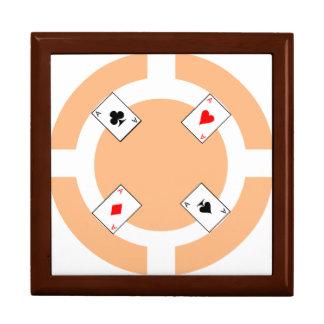 Poker-Chip - Pfirsich Schmuckschachtel