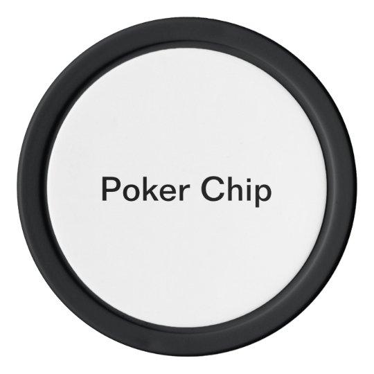 Clay Pokerchips, Schwarz Einfarbige Kante