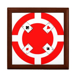 Poker-Chip - Rot Schmuckschachtel