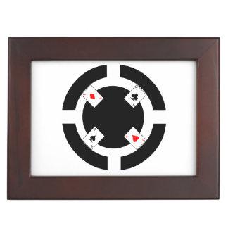 Poker-Chip - Schwarzes Erinnerungsdose