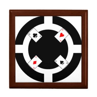 Poker-Chip - Schwarzes Erinnerungskiste