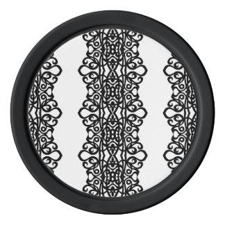 Poker-Chip-Spitze-Stickerei-Entwurf Pokerchips