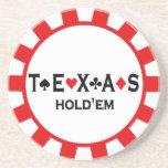 Poker-Chip-Untersetzer Texas Holdem