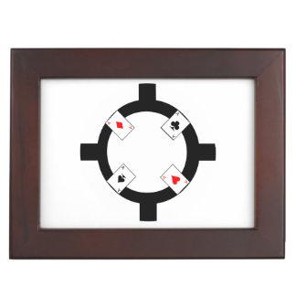 Poker-Chip - Weiß Erinnerungsdose