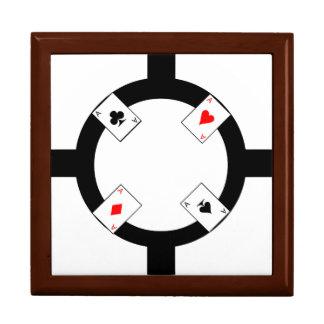 Poker-Chip - Weiß Erinnerungskiste