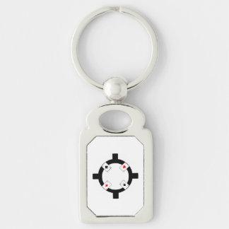 Poker-Chip - Weiß Schlüsselanhänger