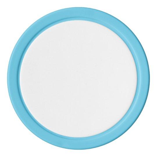 Clay Pokerchips, Babyblau Einfarbige Kante