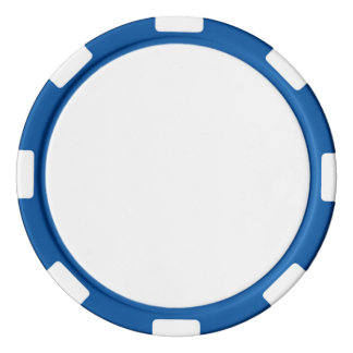 Poker-Chips mit blauem gestreiftem Rand Poker Chip Set